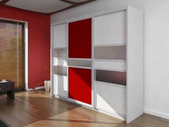kırmızı beyaz sürgülü_gardrop_modeli