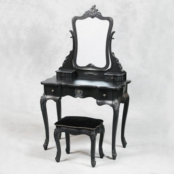 klasik siyah makyaj masası