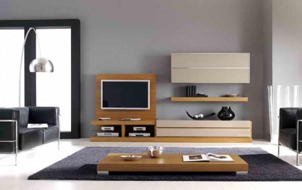 modern ahşap tv ünitesi