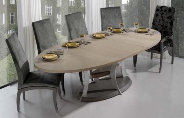 modern-oval yemek-masa-takımı