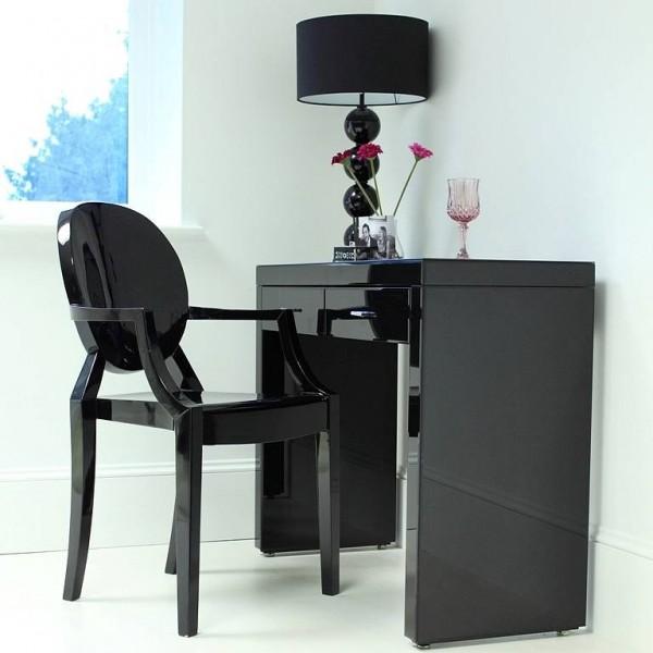 modern siyah makyaj masa modeli