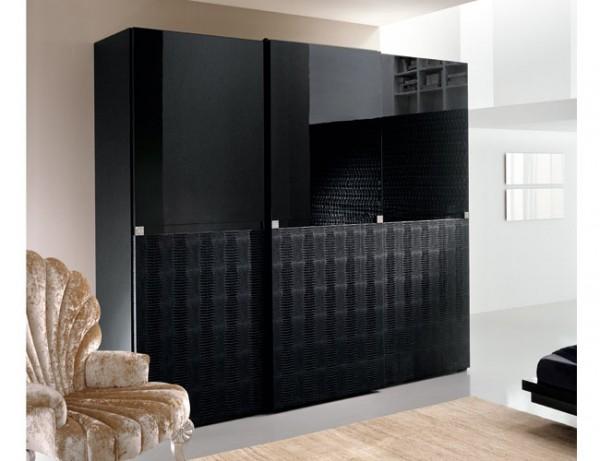 siyah modern gardrop