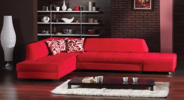 stil kırmızı köşe takımı