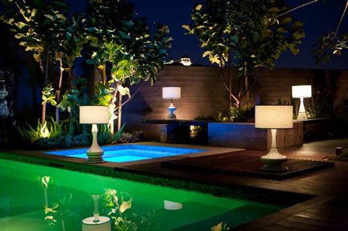 villa bahçe aydınlatmaları