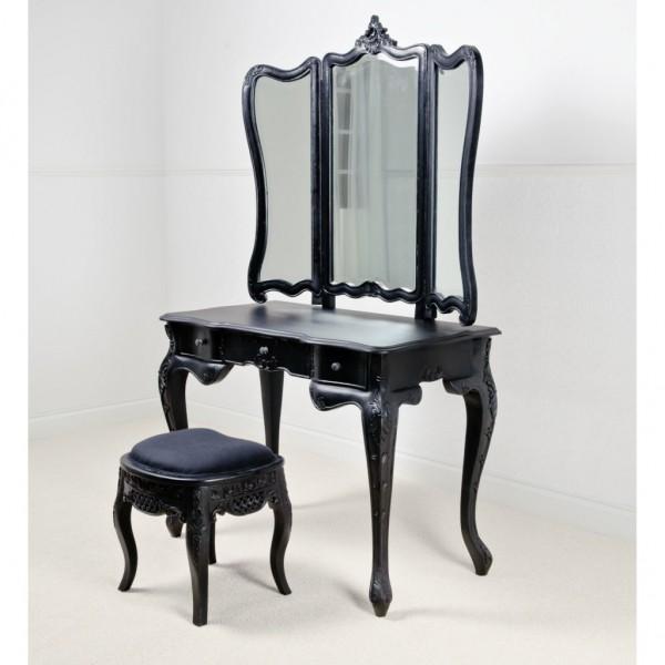 vintage-stili-siyah-makyaj-masası
