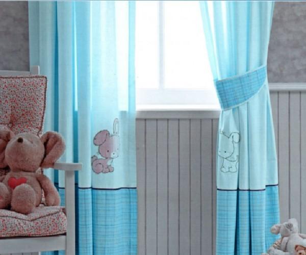 turkuaz-çocuk-odası-perde-modelleri