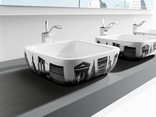 Kare-şeklinde-desenli-dekoratif-banyo-lavabo-modeli