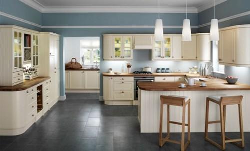 Modern-büyük-mutfak-için-çok-şık-country-tarz-mutfak-modeli