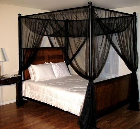 Siyah-renkli-yatak-cibinlik-modeli