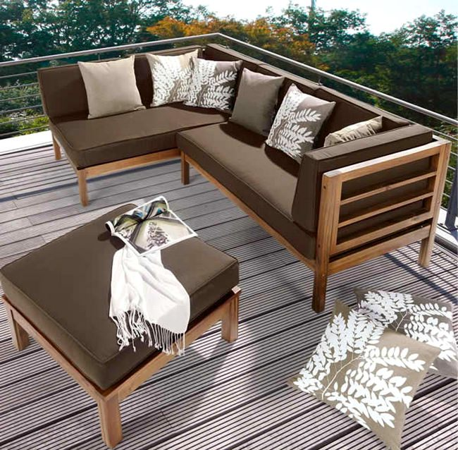 ahsap balkon teras koltuk takimi dekorstore. Black Bedroom Furniture Sets. Home Design Ideas