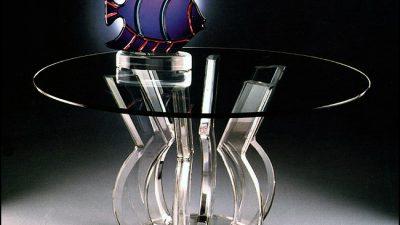Modern Cam Yuvarlak Yemek Masası Modelleri