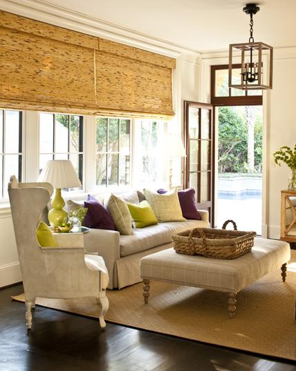 dekoratif bambu stor perdeler