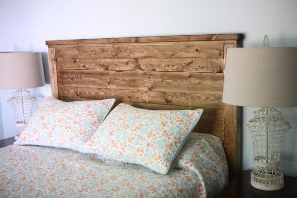 doğal ahşap yatak başı