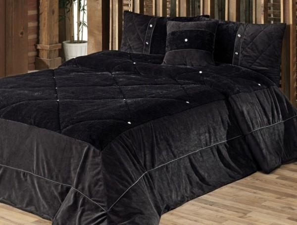 kadife yatak-ortusu-siyah