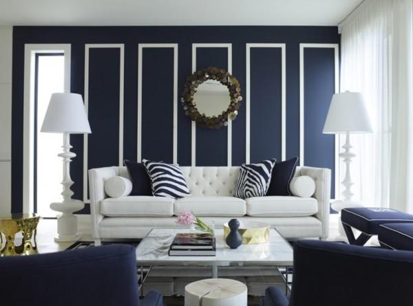 mavi beyaz oturma odaları