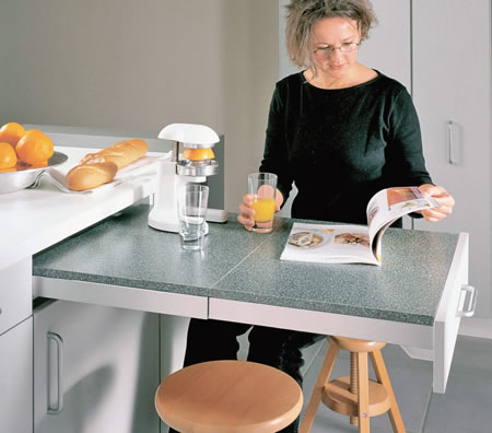 mutfak tezgahına monte masa