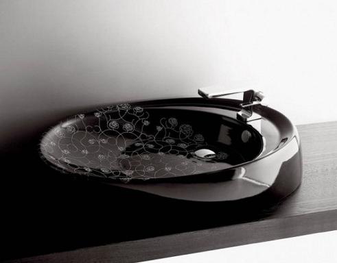 siyah Desenli-Lavabo-Modeli