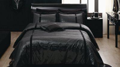 Etkileyici Siyah Yatak Örtüsü Modelleri 2014