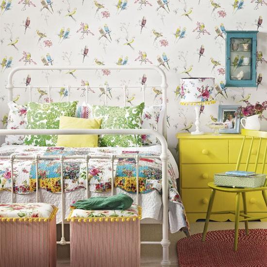 -vintage-yatak oda-modelleri