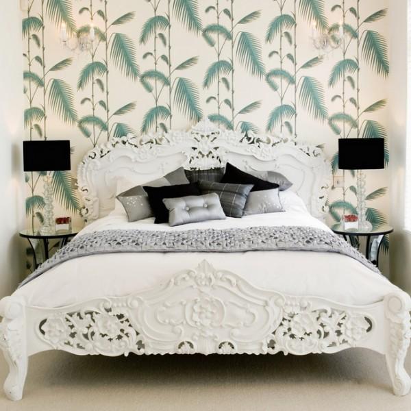 vintage yatak odaları