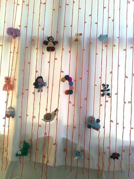Bebek Odaları İçin Renkli Perde Modelleri  (3)