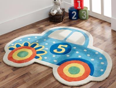 araba desenli çocuk halısı modelleri  (3)