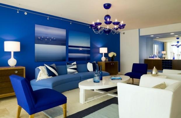 mavi ev dekorasyon örnekleri  (6)