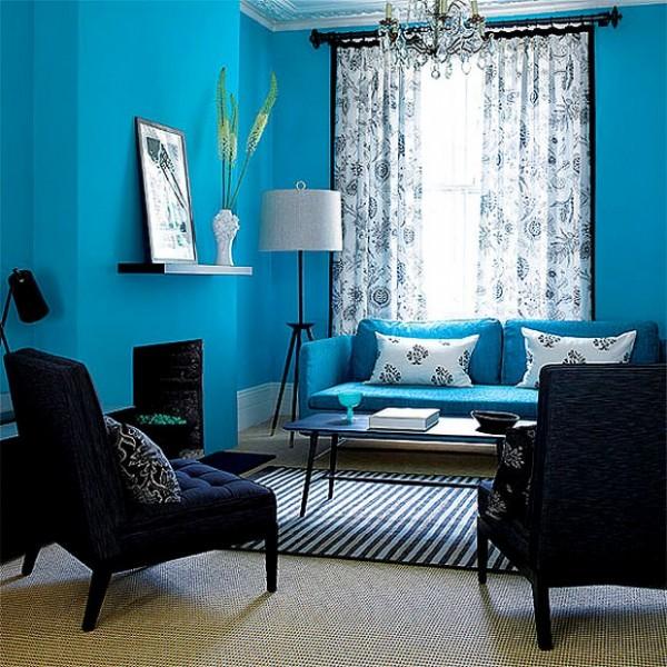 mavi ev dekorasyon örnekleri  (7)