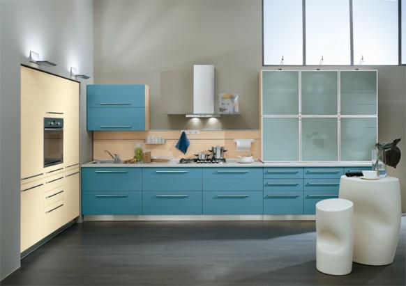 mavi mutfak modelleri  (2)