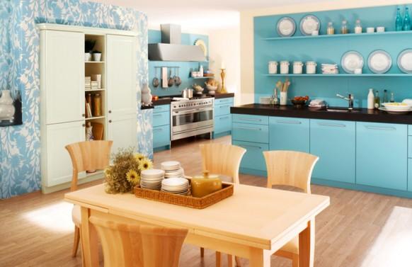 mavi mutfak modelleri  (8)