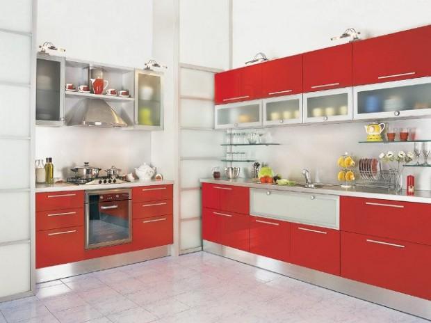modern kırmızı mutfak modelleri  (11)