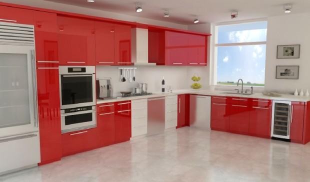 modern kırmızı mutfak modelleri  (3)