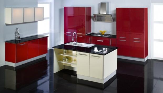 modern kırmızı mutfak modelleri  (6)
