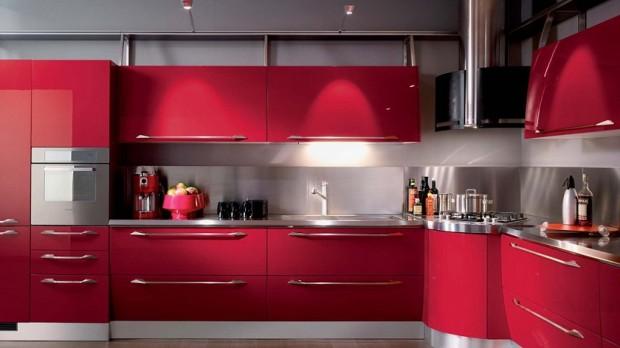 modern kırmızı mutfak modelleri  (8)