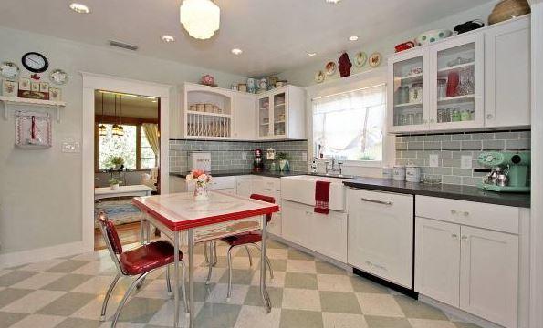 vintage mutfak modelleri  (2)