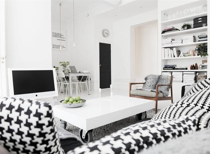 siyah beyaz ev dekorasyonu