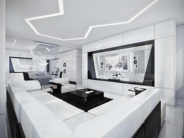 siyah ve beyaz dekorasyon