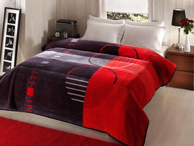 Taç-Vision-Kırmızı-Battaniye