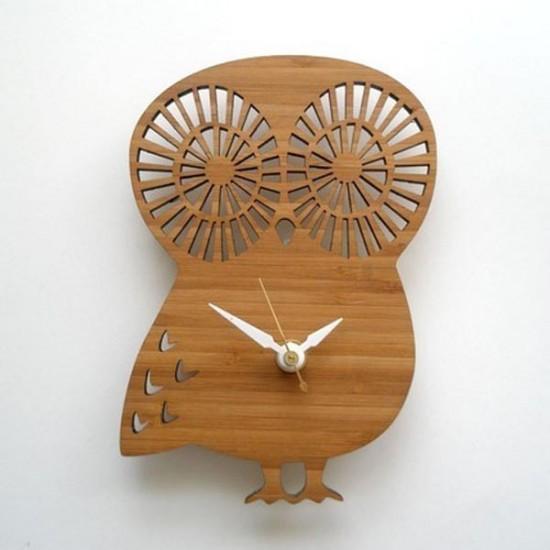 ahşap-baykuş-formunda-duvar-saati-modeli