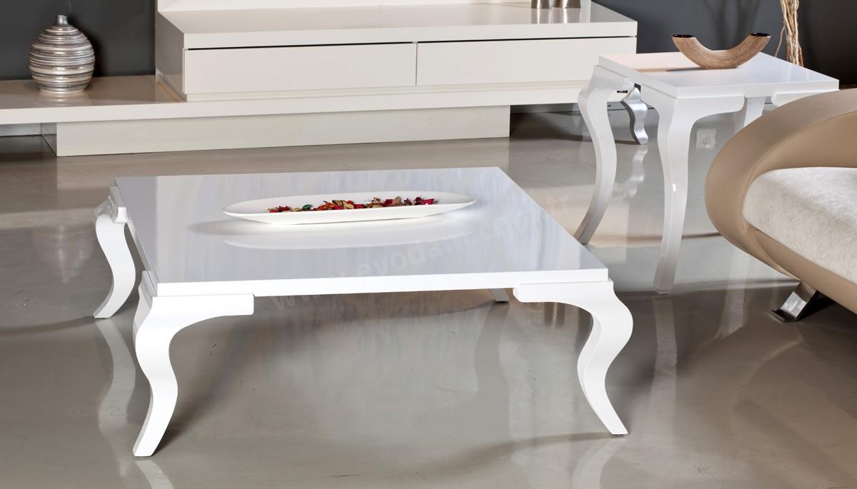 beyaz kare orta sehpa modeli