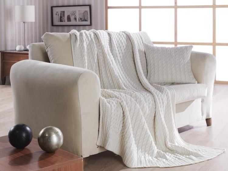 beyaz koltuk şalı
