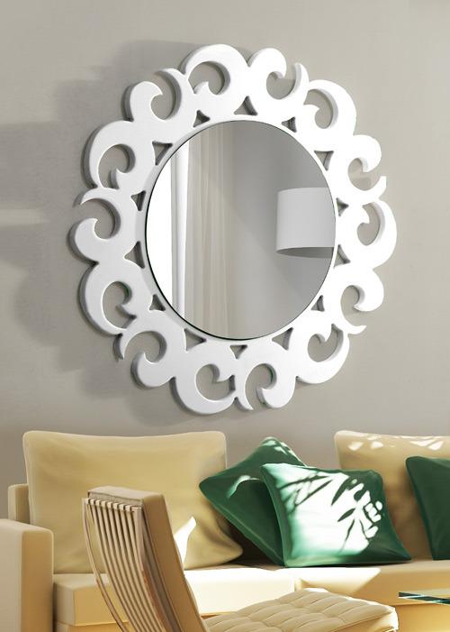 beyaz modern dekoratif ayna