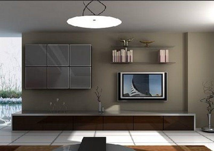 İstikbal-sade-duvarda-gri-raflı-tv-ünite-modeli