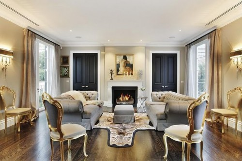 klasik stil salon dekorasyonu