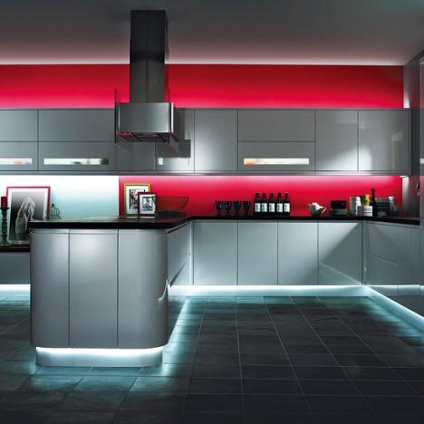 led aydinlatmali modern mutfaklar