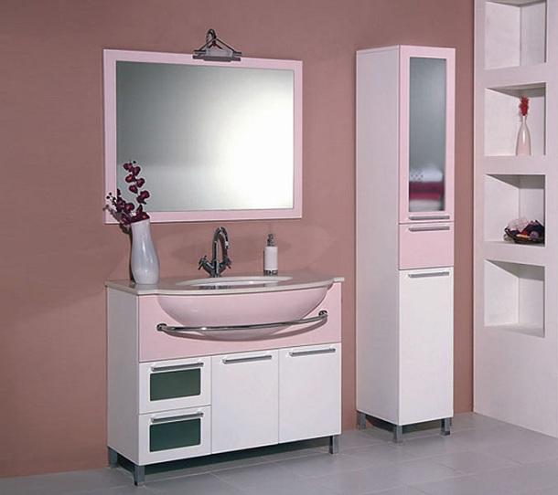 pembe beyaz Banyo-Dolaplari