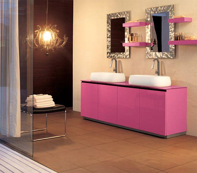 renkli banyo dolabı modelleri