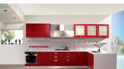 14 Dikkat Çekici Kırmızı Mutfak Örneği