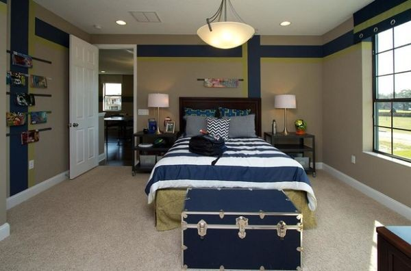 Mavi renkli genc odasi dekorasyonu dekorstore - Bedroom ideas for teenage guys with small rooms ...