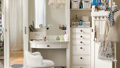 En Güzel Aynalı Makyaj Masası Modelleri